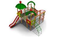 Детский игровой комплекс для улицы  Размеры 7230х6600х4170мм