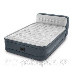 Надувная кровать с подголовником, Intex 64448, Алматы