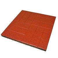 Резиновое покрытие площадок Плитка «Кирпич»  500x500 мм, 30 мм