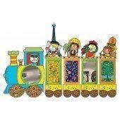 Игровая стенка для детского сада «Паровозик», фото 1