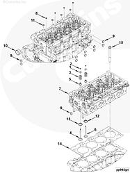 Уплотнения клапана (колпачок маслоотражательный) Cummins ISF 2,8L 4976170