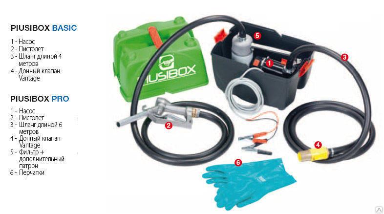 Комплект заправочный для дизельного топлива Piusi Box Basic