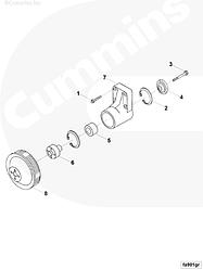 Шкив приводной вентилятора Cummins 6BT 3914458 3902709