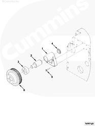 Шкив вентилятора Cummins EQB210-20 3914463 3902710