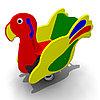 Детская Качалка на одинарной пружине «Попугай» Размеры: 920 x 450 x 895мм