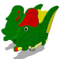 ДетскаяКачалка на одинарной пружине «Крокодил» Размеры: 995 x 450 x 920мм