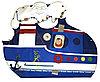 Игрушка настенная дидактическая Кораблик