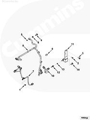 Шайба уплотнительная болта-штуцера топливной трубки (d=12мм) Cummins 3963983 3935171 3283280