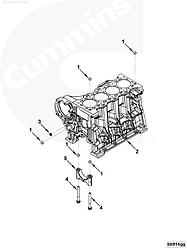 Штифт круглый, направляющая Cummins ISBe ISF2.8, 3.8  3900068 52849770