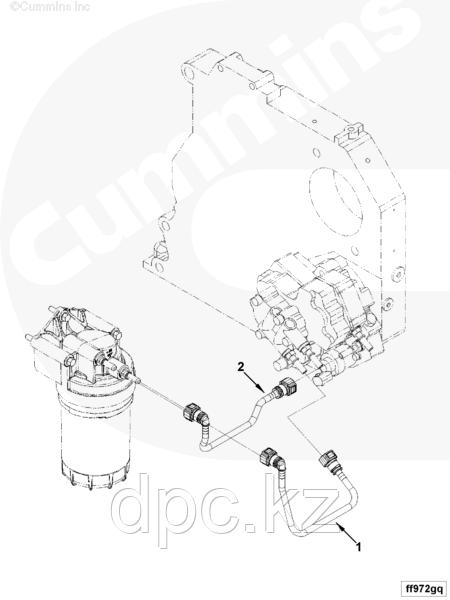 Трубка топливная (от сепаратора к ТНВД) Cummins ISF3.8 4990464 5273283