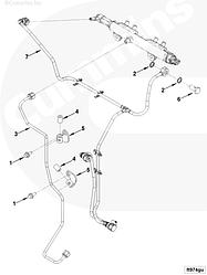 Трубка слива топлива с рампы Cummins ISF 3.8 5293769