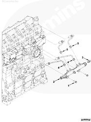 Трубка топливная от рейки к форсунке 1,2 цилиндра Cummins ISF 3,8 Евро-4 5284841