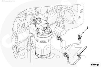 Трубка топливная от ТНВД к топливному фильтру Cummins ISF3.8 E-4 5272723