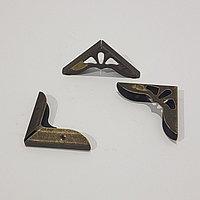 "Уголок металл ""Античный"" бронза 3,1х3,1х0,7 см"
