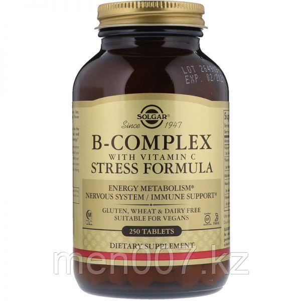 БАД Комплекс витаминов B, с витамином C Stress Formula (250 таблеток)