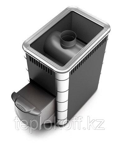 Печь для бани ТМФ Ангара Inox дверца антрацит антрацит нерж.вставки