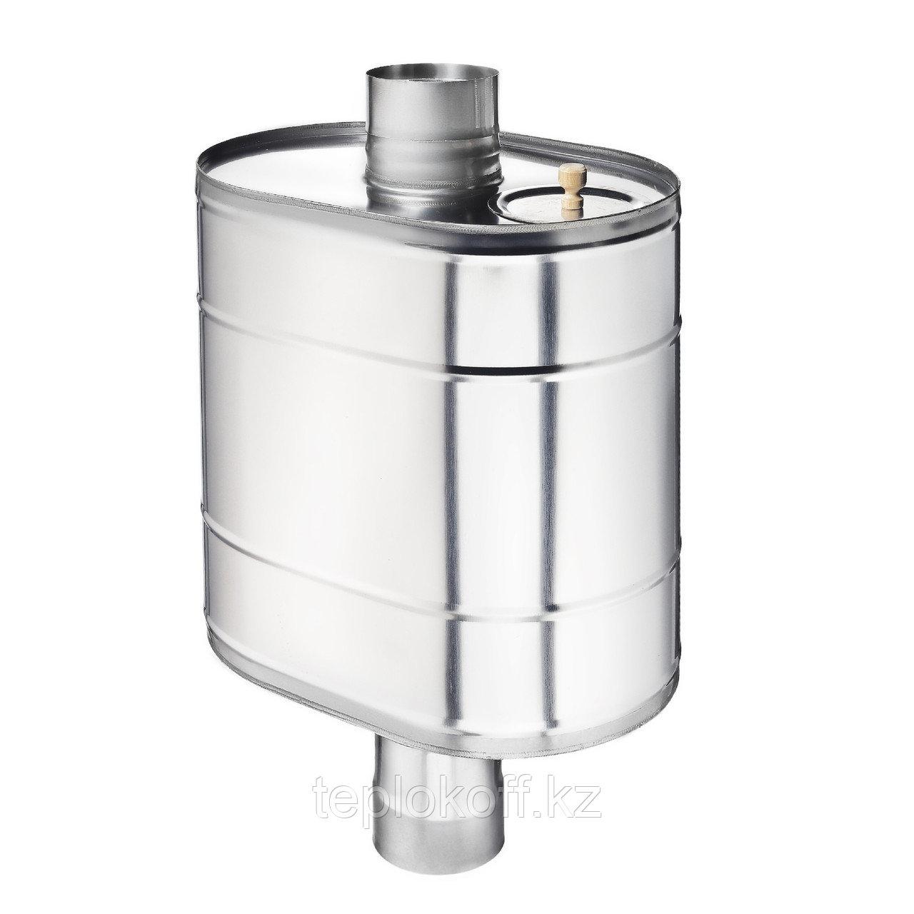 """Бак на трубе для печи 50 литров ф-150 мм, AISI 439/1,0мм, (штуцер 3/4"""")"""