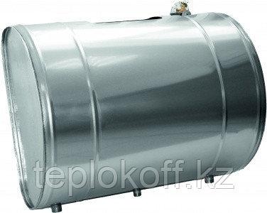 """Бак для теплообменника """"Посейдон"""", 100 л, 1,0 мм, горизонтальный, нержавейка"""