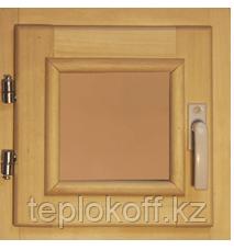40108 Оконный блок 400*400 стекло бронза (осина)