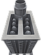 Печь банная чугунная Гефест ПБ-100П-ЗК, фото 2