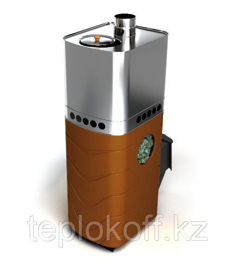 Печь для бани ТМФ Бирюса 2013 Carbon дверца антрацит закрытая каменка терракота