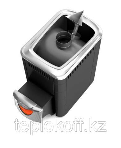 Печь для бани ТМФ Ангара 2012 Inox нерж.дверца со стеклом закр.каменка антрацит