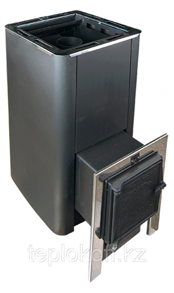 Печь для бани Конвектика Олимп Carbon 18 с чуг.дверцей без стекла антрацит