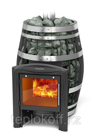 Печь для бани ТМФ Саяны XXL 2015 Carbon Витра закрытая каменка теплообменник