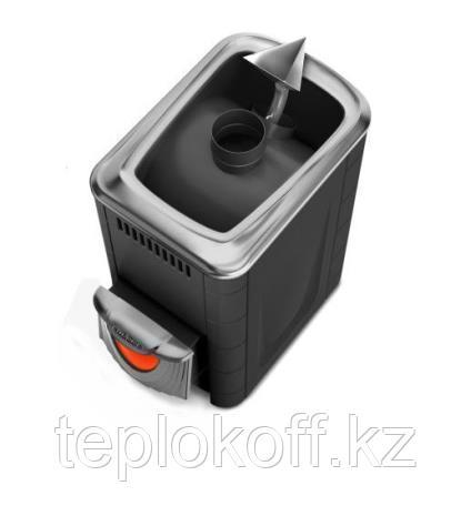 Печь для бани ТМФ Ангара 2012 Inox нерж.дверца со стеклом короткий топл. канал антрацит
