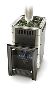 Печь для бани газовая ТМФ Уренгой-2 Carbon антрацит нерж.вставки (без ГГУ)