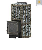 Дровяная банная печь Везувий Ураган Ковка 22 (271) с закрытой каменкой, чугун