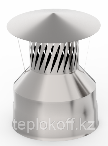 Оголовок с искрогасителем, ф 180х260 нерж/оц, 0,5мм/0,5мм, (К)
