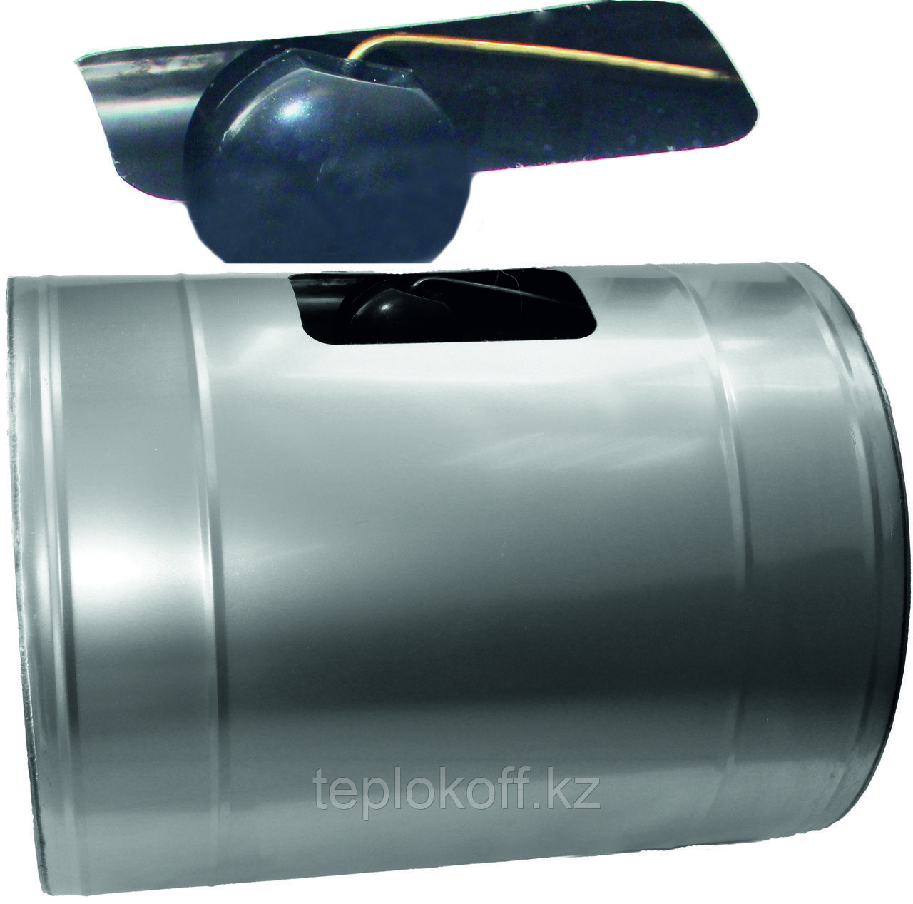 """Бак для теплообменника """"Нептун"""", 100л, AISI 439/1,0мм, Г/Лев"""