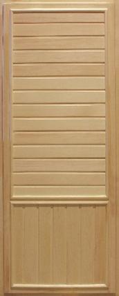 Дверь банная глухая (осина, вагонка кат. В) 65х700х1800 мм