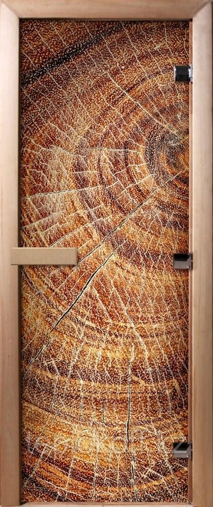 Дверь стеклянная DoorWood Фотопечать А049 (стекло 8 мм, 3 петли, коробка ольха) 1900*700 мм