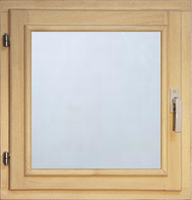 40111 Оконный блок 500*500 стекло прозрачное (осина)