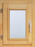 40106 Оконный блок 400*300 стекло прозрачное (осина)