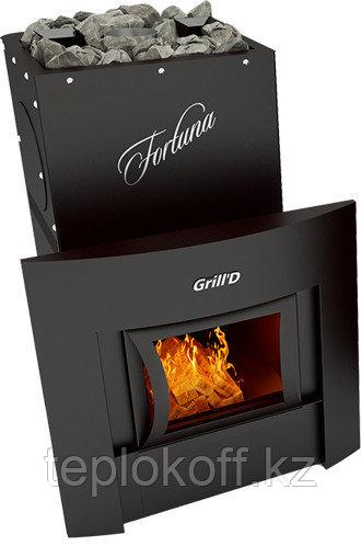 Печь для бани Grill'D Fortuna 200G window black