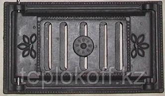 Дверца чугунная каминная поддувальная ДПК 310*180, Балезино