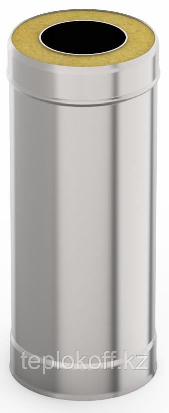 Сэндвич-труба 0,5м, ф 160х220 нерж/нерж 1,0мм/0,5мм, (К)