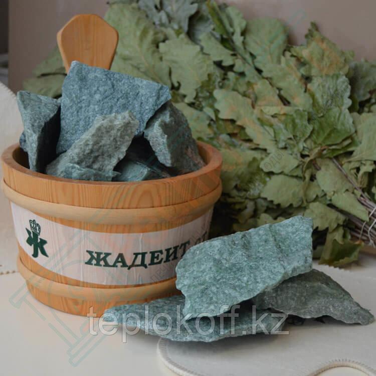 Камень для бани Жадеит колотый, 10 кг, средний, коробка, Хакасия