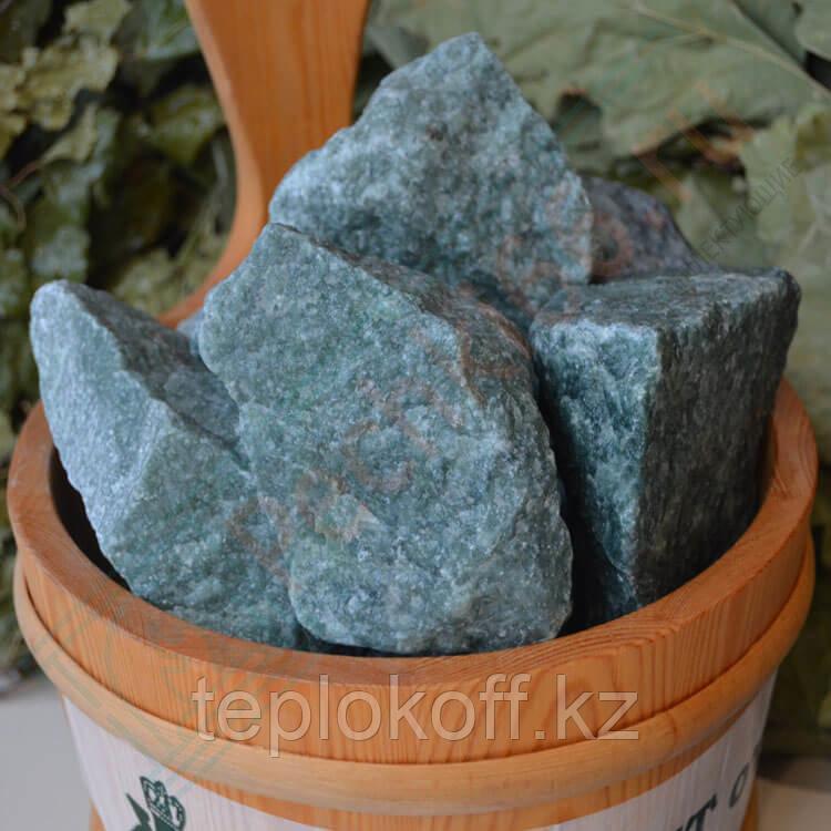 Камень для бани Жадеит шлифованный 10 кг крупный