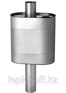 Бак Везувий самоварного типа, 55 л, нержавеющий (AISI 439/1,0 мм/439/0,8 мм), ф115 мм, овальный