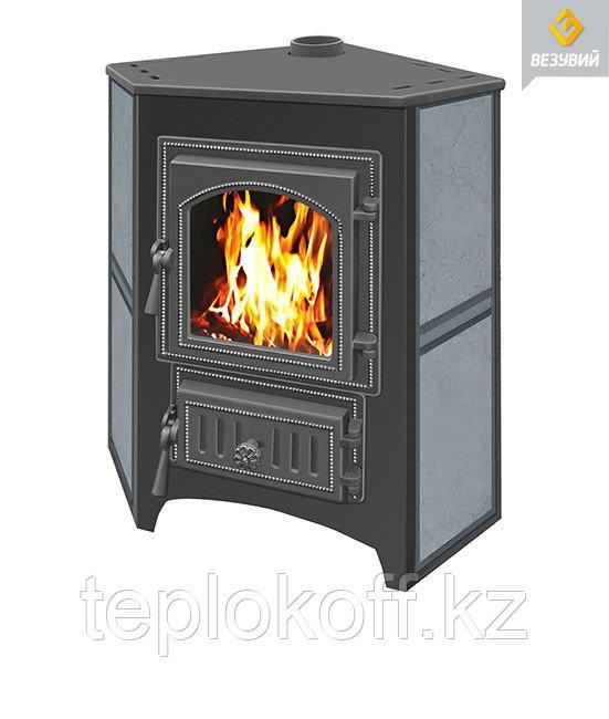 Печь - камин Везувий ПК - 01 талькохлорит угловой 9 кВт дверка 220