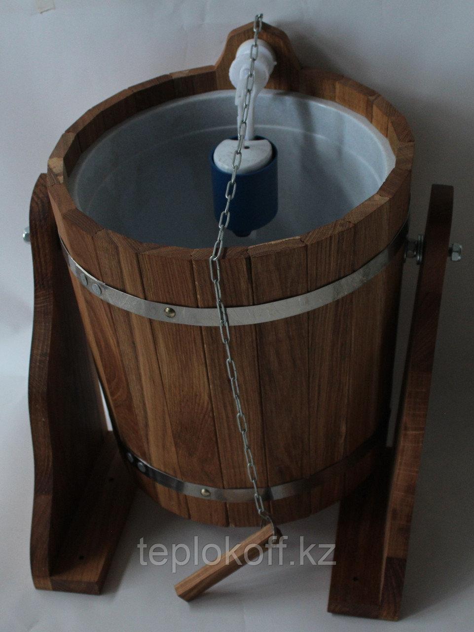 Обливное устройство банное Woodson 20 л дуб с пластиковой вставкой