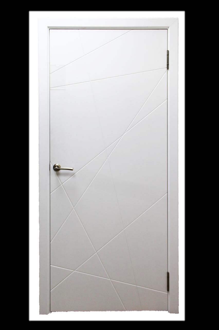 Межкомнатная дверь модельАбстракция эмаль белая