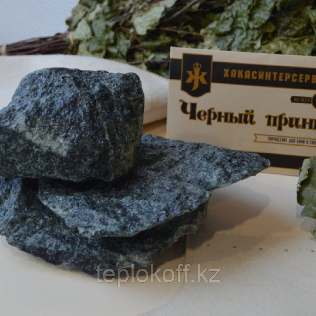 """Камень для бани Пироксенит """"Черный принц"""" колотый 10 кг средний"""
