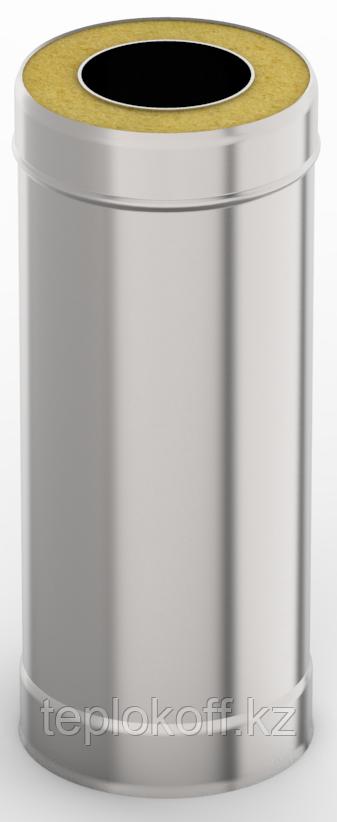 Сэндвич-труба 0,5м, ф 130х200 нерж/оц, 1,0мм/0,5мм, (К)