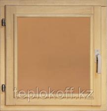 40112 Оконный блок 500*500 стекло бронза (осина)