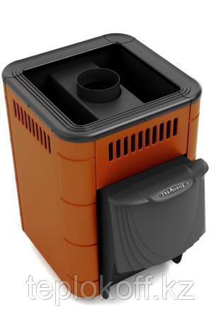 Печь для бани ТМФ Оса Inox дверца антрацит короткий топливный канал терракота